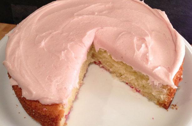 Lemon Birthday Cake With Raspberry Buttercream Recipe ...