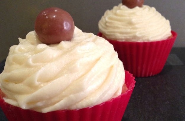 Malt cupcakes