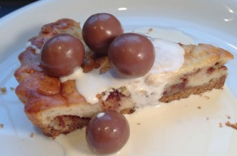 Homemade Maltesers cheesecake 