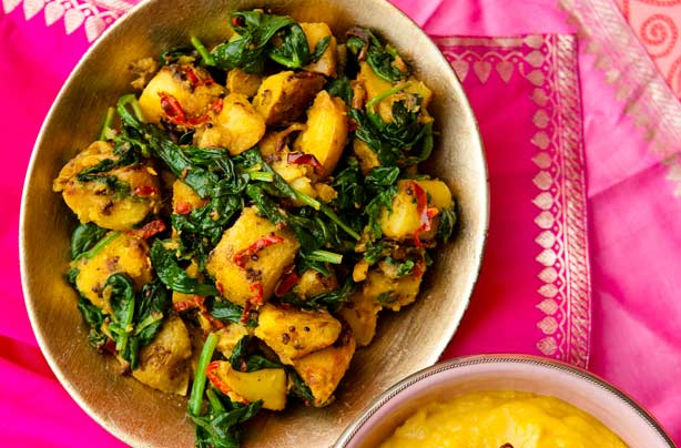 saag aloo recipe goodtoknow