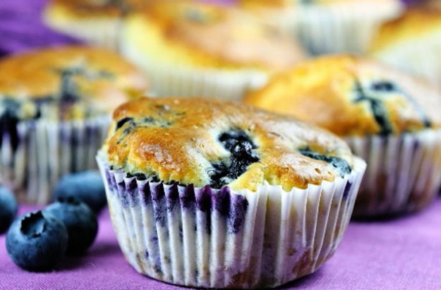 Blueberry and orange muffins
