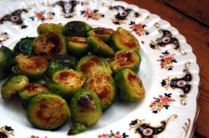 Sauteed lemon brussels sprouts
