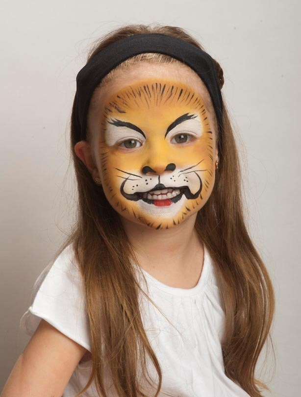 lion face paint lion face paint to add the details