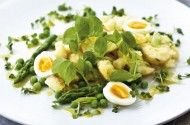 Savour this delicious seasonal salad of new potatoes and asparagus. The dressing is light, tangy and very refreshing.