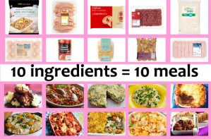 10 ingredients = 10 meals