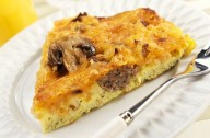 Mushroom and sausage frittata