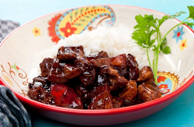Chicken with chilli and chocolate