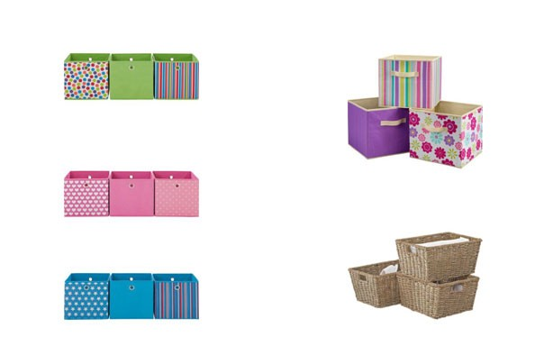 Cheap storage solutions Argos canvas_seagrass storage boxes