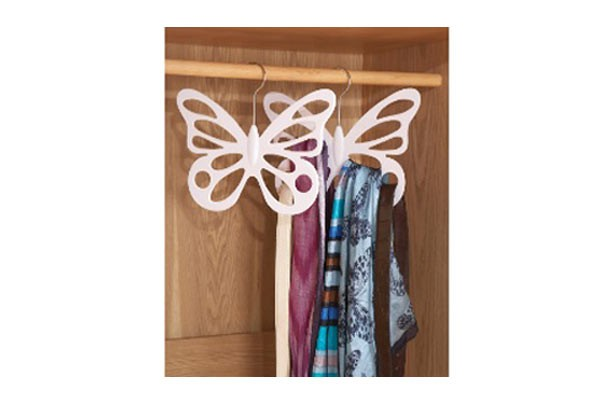 Cheap storage solutions House of Bath butterfly scarf belt hanger