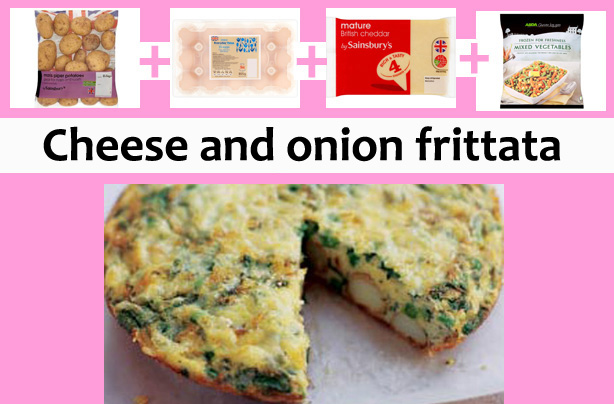 Get the recipe: Cheese and onion frittata
