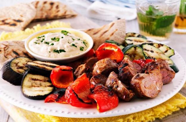 Grilled mezze platter
