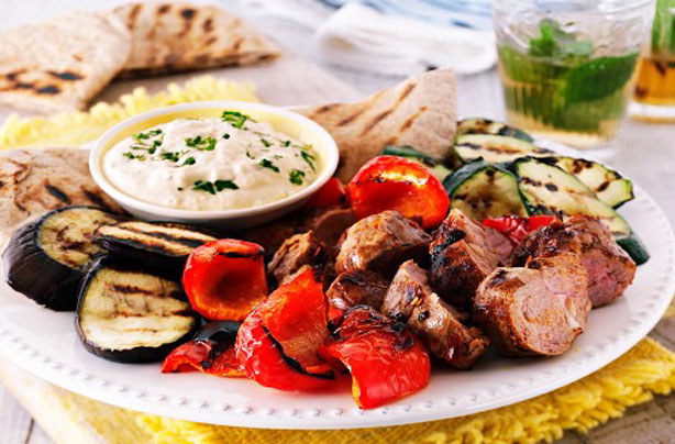 Grilled mezze platter recipe - goodtoknow
