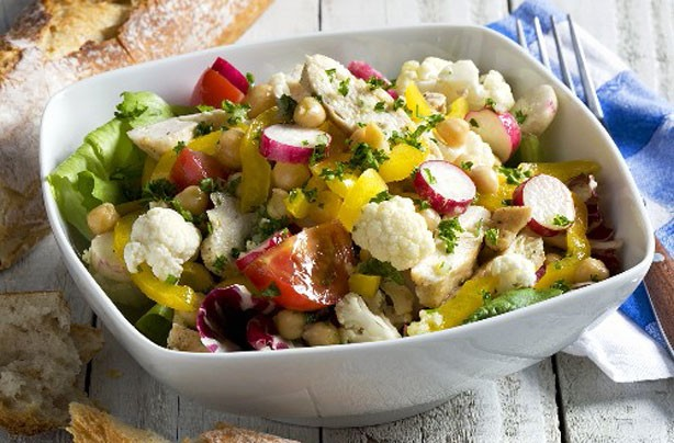 Cauliflower and radish salad