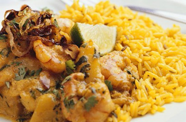 Dairy-free prawn curry