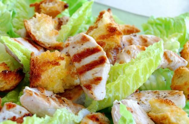 Griddled chicken salad