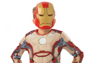 Child wearing Iron Man costume