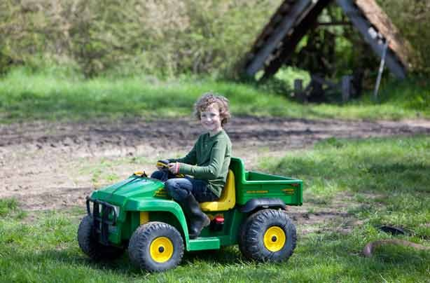 Glamping Mill Farm Wiltshire mini tractors