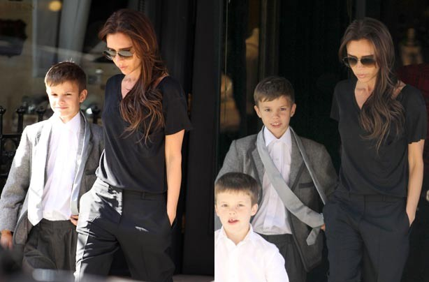 Romeo and Victoria Beckham