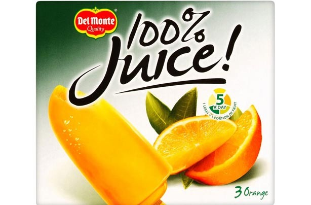 Del Monte orange ice lollies