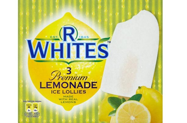 R Whites Premium Lemonade ice lollies