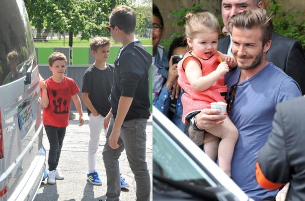 David, Brooklyn, Romeo, Cruz and Harper Beckham