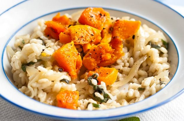 Low-fat butternut squash risotto