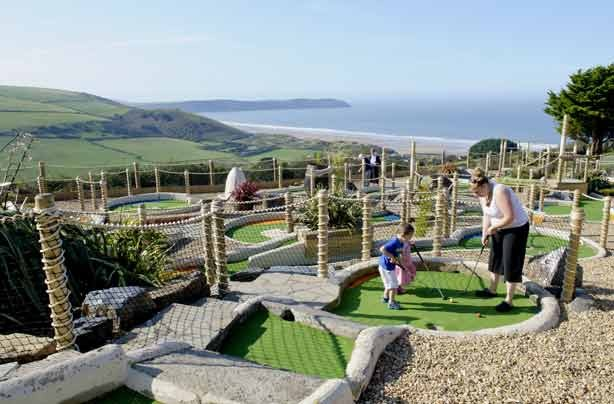 Budget holiday parks Devon Woolacombe Bay