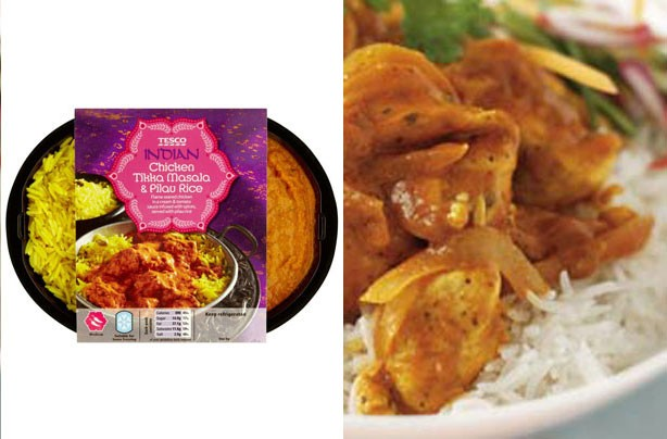 Ready meal swaps: chicken curry