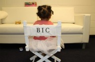 Blue Ivy in director's chair, May 2013