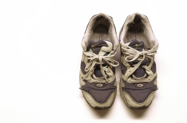 A pair of old trainers