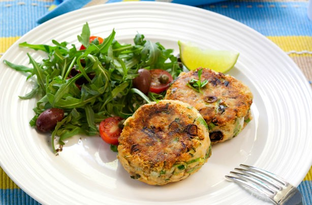 Potato and salmon fish cakes