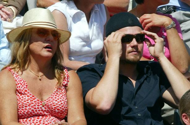 Leonardo Di Caprio and his mum