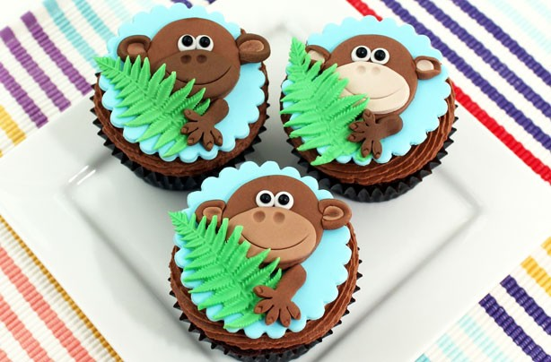 Monkey Face Cupcakes Monkey Cupcakes