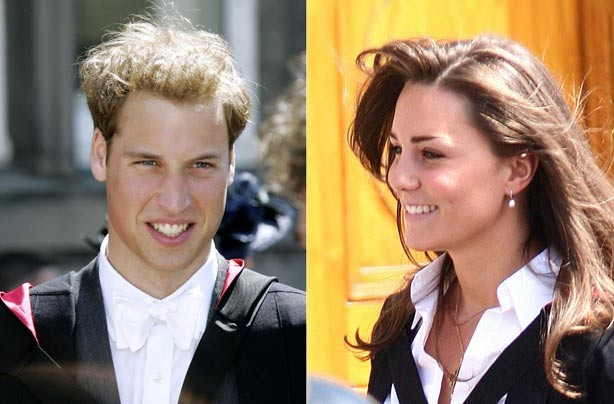 Prince William and Kate Middleton on their graduation days at St Andrew's University