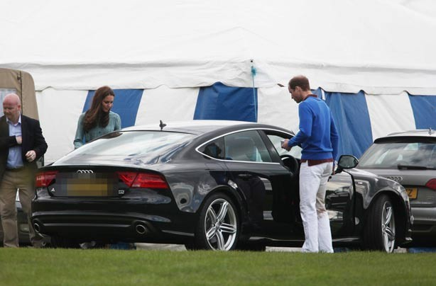 Kate Middleton and Prince William and their car