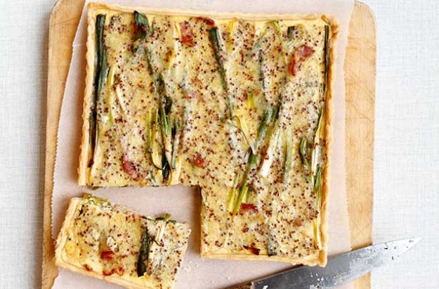 bacon, leek and potato tart