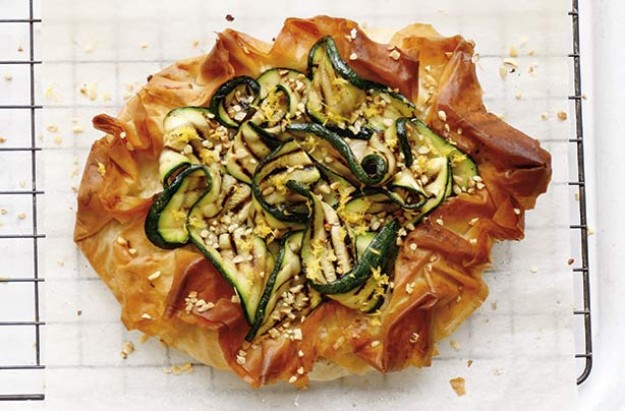 Italian ham and cheese filo tart