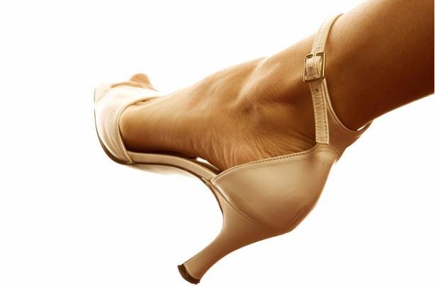 Woman's foot in high heels