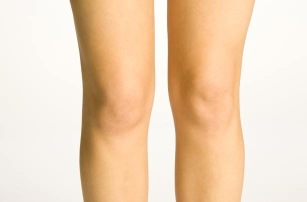 Woman's knees