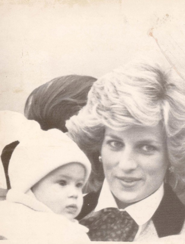 Prince Harry as a baby with Princess Diana