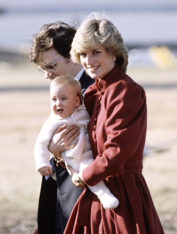 Princess Diana with Prince William as a baby