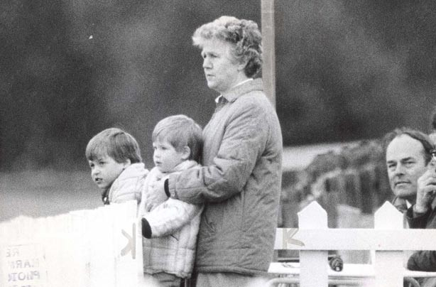 Prince William and Prince Harry with their nanny Olga Powell