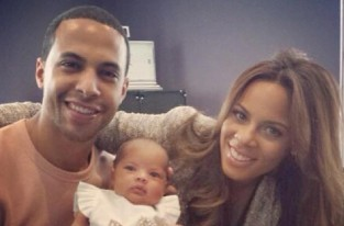 Marvin and Rochelle Humes with their baby Alaia-Mai