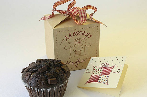 Muffin message gift box