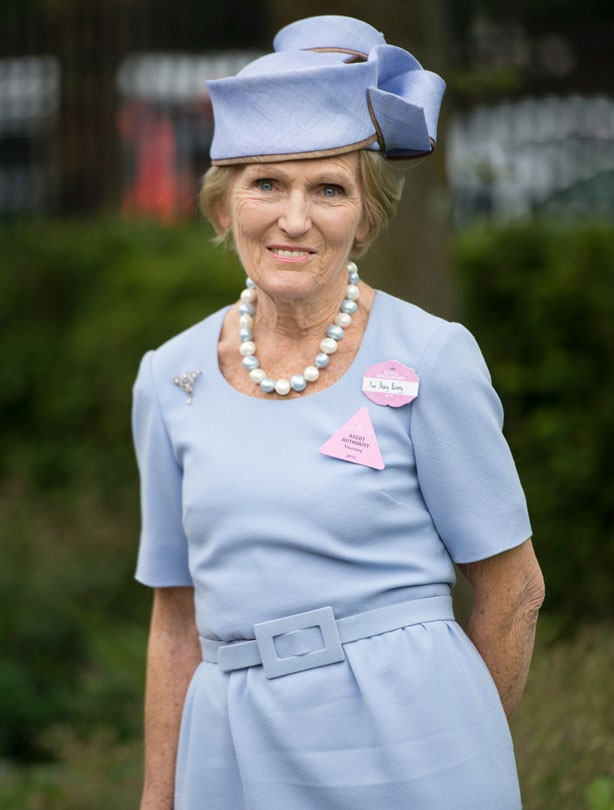 Mary Berry at Ascot 2013