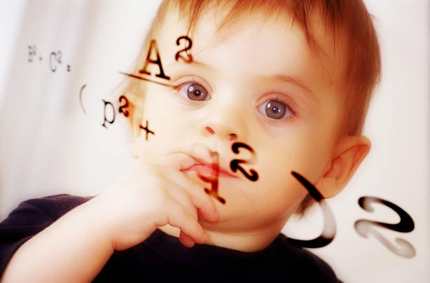 Baby thinking about numbers