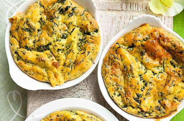 Cheese and spinach pasta bake