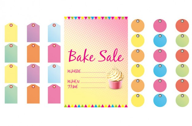 Bake sale signs