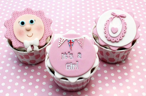 Baby shower food ideas baby girl cupcakes goodtoknow - Girl baby shower cupcake ideas ...