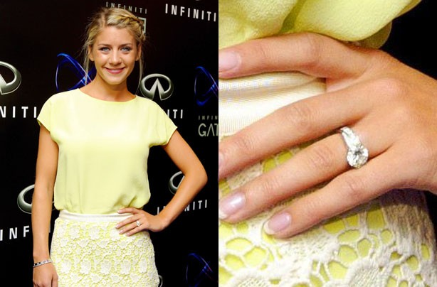 Melanie Slade engagement ring